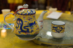 chińska kubek herbaty trawy zdjęcia royalty free