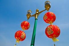 chińska lampionu papieru czerwień Zdjęcia Royalty Free