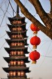 chińska latarniowa czerwień fotografia royalty free