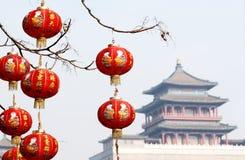 chińska latarniowa czerwień zdjęcia royalty free