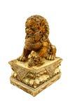 Chińska lew statua odizolowywa białego tło Fotografia Royalty Free