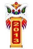 Chińska Lwa Tana Głowa z Nowego Roku 2013 Ślimacznicą Fotografia Royalty Free