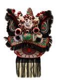 Chińska lwa tana głowy maska odizolowywająca na białym tle, Chiński styl, czarny zdjęcie stock