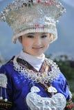 Chińska Miao narodowości dziewczyna Obraz Royalty Free