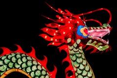 Chińska nowy rok dekoracja--Zbliżenie kolorowy smok zdjęcie royalty free