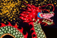 Chińska nowy rok dekoracja--Zbliżenie kolorowy smok obrazy royalty free