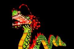 Chińska nowy rok dekoracja--Zbliżenie kolorowy smok obraz stock