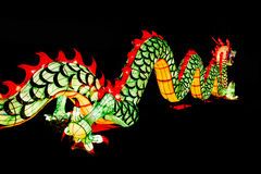 Chińska nowy rok dekoracja--Zbliżenie kolorowy smok obraz royalty free