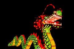Chińska nowy rok dekoracja--Zbliżenie kolorowy smok zdjęcie stock