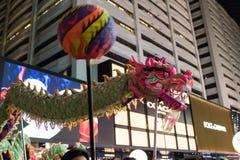 Chińska nowy rok nocy parada zdjęcie royalty free