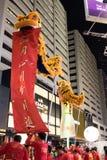 Chińska nowy rok nocy parada zdjęcia royalty free