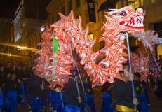 Chińska nowy rok parada obraz royalty free