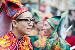 Chińska nowy rok parada Paryż Zdjęcia Royalty Free