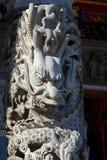 Chińska religia, świątynie, filary, smoków filary, smoki obrazy royalty free