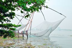 Chińska sieć rybacka przy fortem Kochi Obraz Royalty Free
