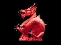 Chińska smok statua odizolowywająca Zdjęcie Stock