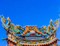 chińska smoka dachu świątynia Obrazy Stock