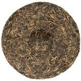 Chińska surowa puerh herbata z kamiennym odciśnięcie koszt stały widokiem obraz royalty free