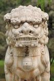 Chińska tradycyjna lew rzeźba Obrazy Royalty Free