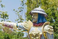 Chińska wojownik rzeźba obrazy stock