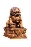 Chińska złota lew statua Fotografia Royalty Free