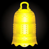 Chińska złotego dzwonu artefakta wektoru ilustracja Obraz Stock