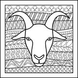 Chińska zodiaka znaka kózka Obraz Stock