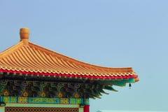 Chiński świątynia dach z kolorowym Fotografia Stock