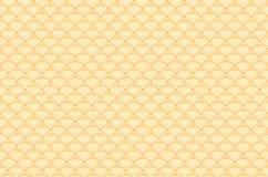 Chiński żółtego złota bezszwowy deseniowy smok rybi waży prostego bezszwowego deseniowego natury tło z japończykiem fala okrąg tu ilustracji