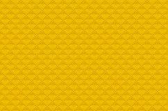 Chiński żółtego złota bezszwowy deseniowy smok rybi waży prostego bezszwowego deseniowego natury tło z japończykiem fala okrąg tu ilustracja wektor