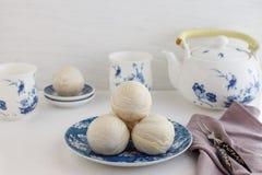 Chiński antyczny deser dzwoniący 'Pia' lub Mung fasoli plombowania tort fotografia royalty free