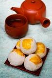 Chiński antyczny deser dzwonił 'Pia', Chińskiego ciasto lub księżyc cak, obrazy royalty free