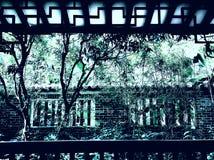 Chiński antyczny drewniany kratownicy okno zdjęcia stock