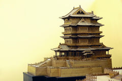 Chiński antyczny klasyczny architektura model obrazy royalty free