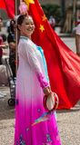 Chiński Australijski tancerz wita najważniejszego Li Keqiang, Sydney Au Fotografia Stock