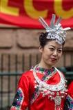 Chiński Australijski tancerz wita najważniejszego Li Keqiang, Sydney Au Obrazy Royalty Free