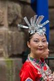 Chiński Australijski tancerz wita najważniejszego Li Keqiang, Sydney Au Obraz Royalty Free