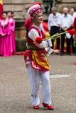 Chiński Australijski tancerz wita najważniejszego Li Keqiang, Sydney Au Zdjęcie Stock