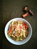 Chiński azjata dom gotował kuchnię, szechuan warzywa Obraz Stock