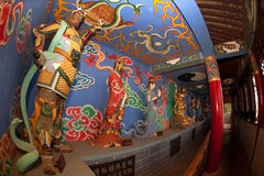 Chiński bóg blisko smok bramy w Kumming mieście Zdjęcie Stock