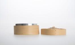 Chiński bambus Dekatyzujący lub bambus Dekatyzowaliśmy dla dimsum na backgroun Obrazy Royalty Free