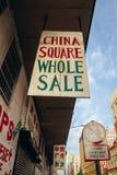 Chiński biznes podpisuje wewnątrz miasto obraz stock