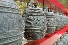 Chiński chime, Bianzhong w chińczyku fotografia royalty free