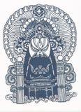 chiński cięcia papieru wzór tradycyjny Obraz Royalty Free