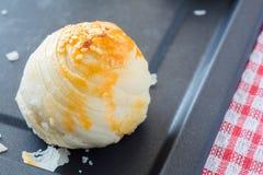 Chiński ciasto z jajecznym yolk i białym sezamem Obraz Stock