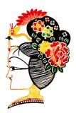 Chiński cień sztuki kobiet pióropusz Fotografia Stock