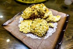 Chiński Crunchy Rice talerz obrazy stock