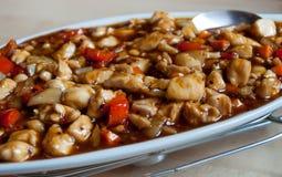 Chiński cukierki i kwaśny naczynie Fotografia Stock