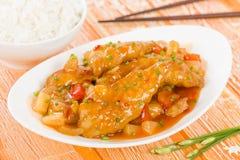 Chiński cukierki & podśmietanie kurczak Fotografia Royalty Free