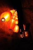 Chiński czerwony lampion fotografia stock